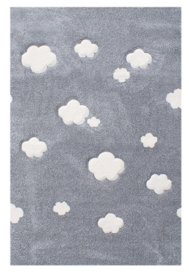 Forclaire Dětský koberec Mráčky stříbrno-šedý 120x180cm