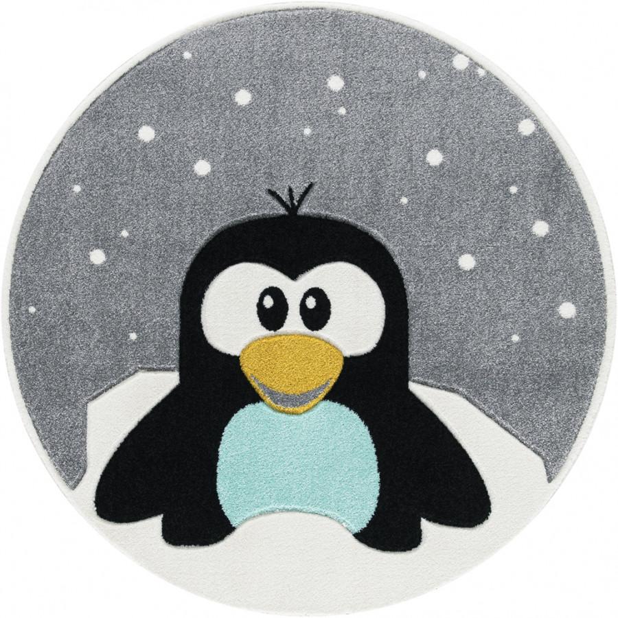 Forclaire Dětský kulatý koberec Tučňák
