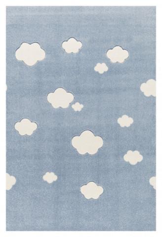 Dětský koberec Mráčky modro-bílý