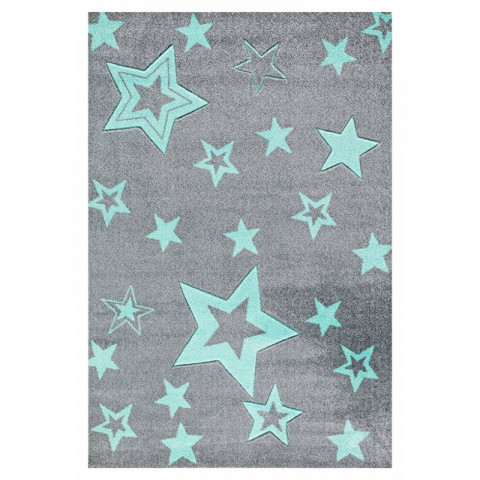 Dětský koberec STARLIGHT grau/mint