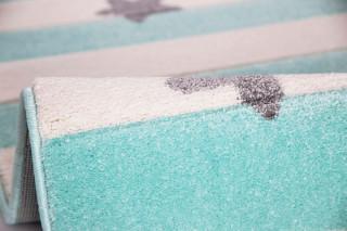 Dětský koberec STARS STRIPES mátový