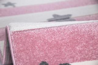 Dětský koberec STARS STRIPES růžový
