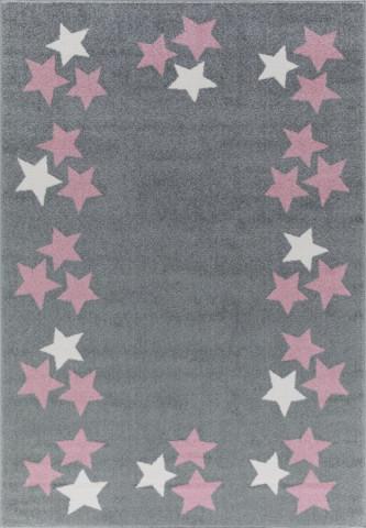 Dětský koberec BORDERSTAR šedorůžový