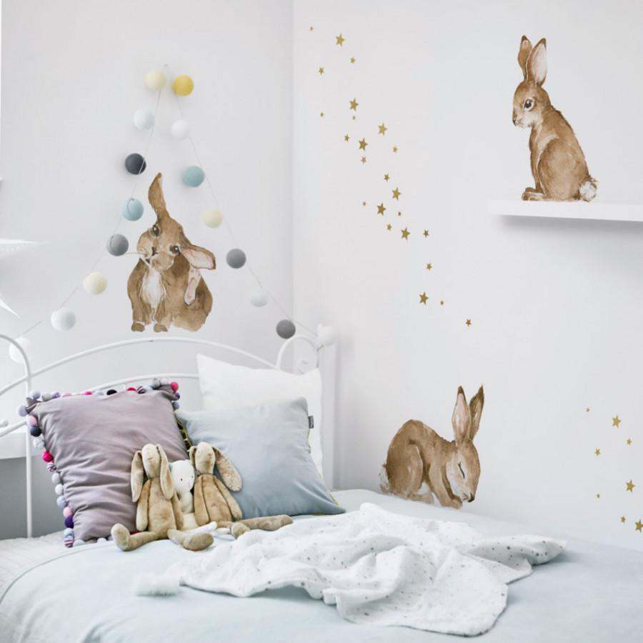 Forclaire Dekorace na zeď DEKORNIK Happy rabbits