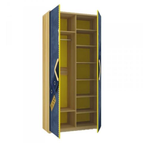 Dětská postel Jeans 80x190 - santana / žlutý č.2
