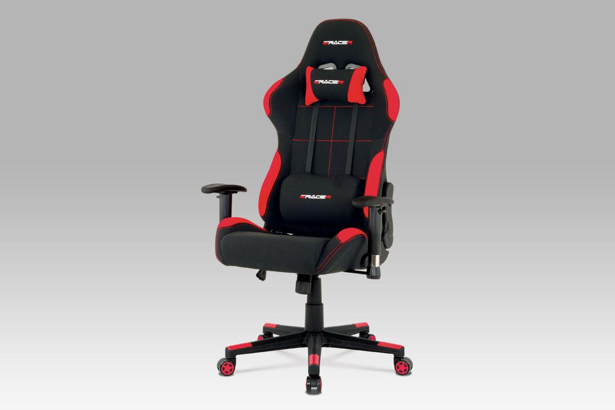 Autronic Kancelářská židle KA-F02 YEL - černá + žlutá látka