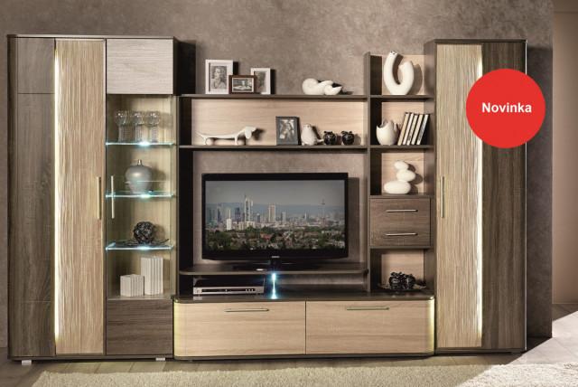 TV stolek Bruna - sonoma světlý/tmavý č.6