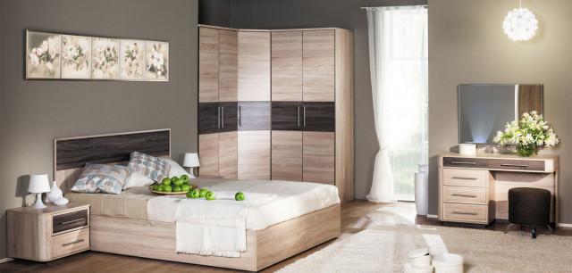 Manželská postel Bruna 180x200 - čalouněné čelo č.4