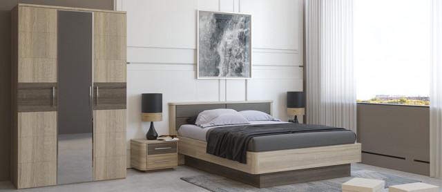 Manželská postel Bruna 180x200 - čalouněné čelo č.3