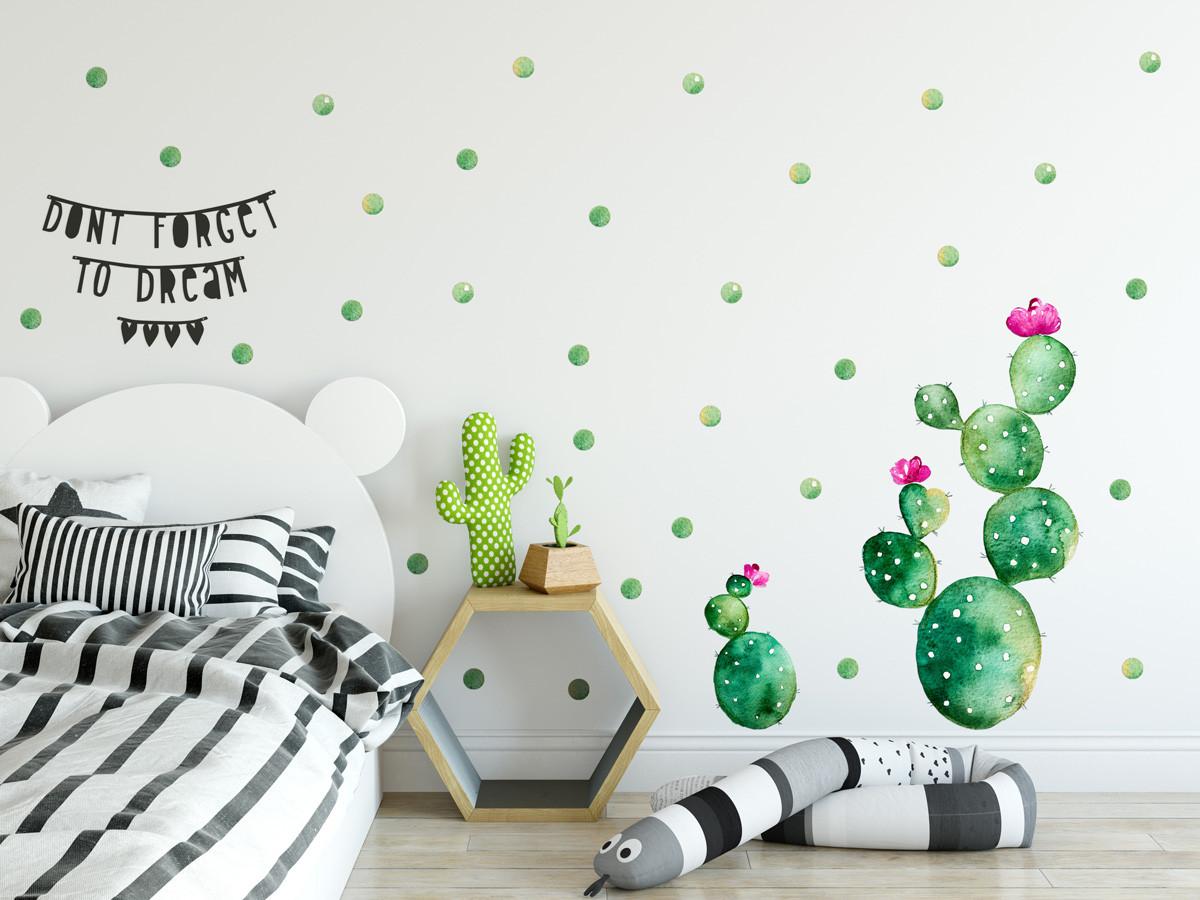 Forclaire Dekorace na zeď Kaktus 01