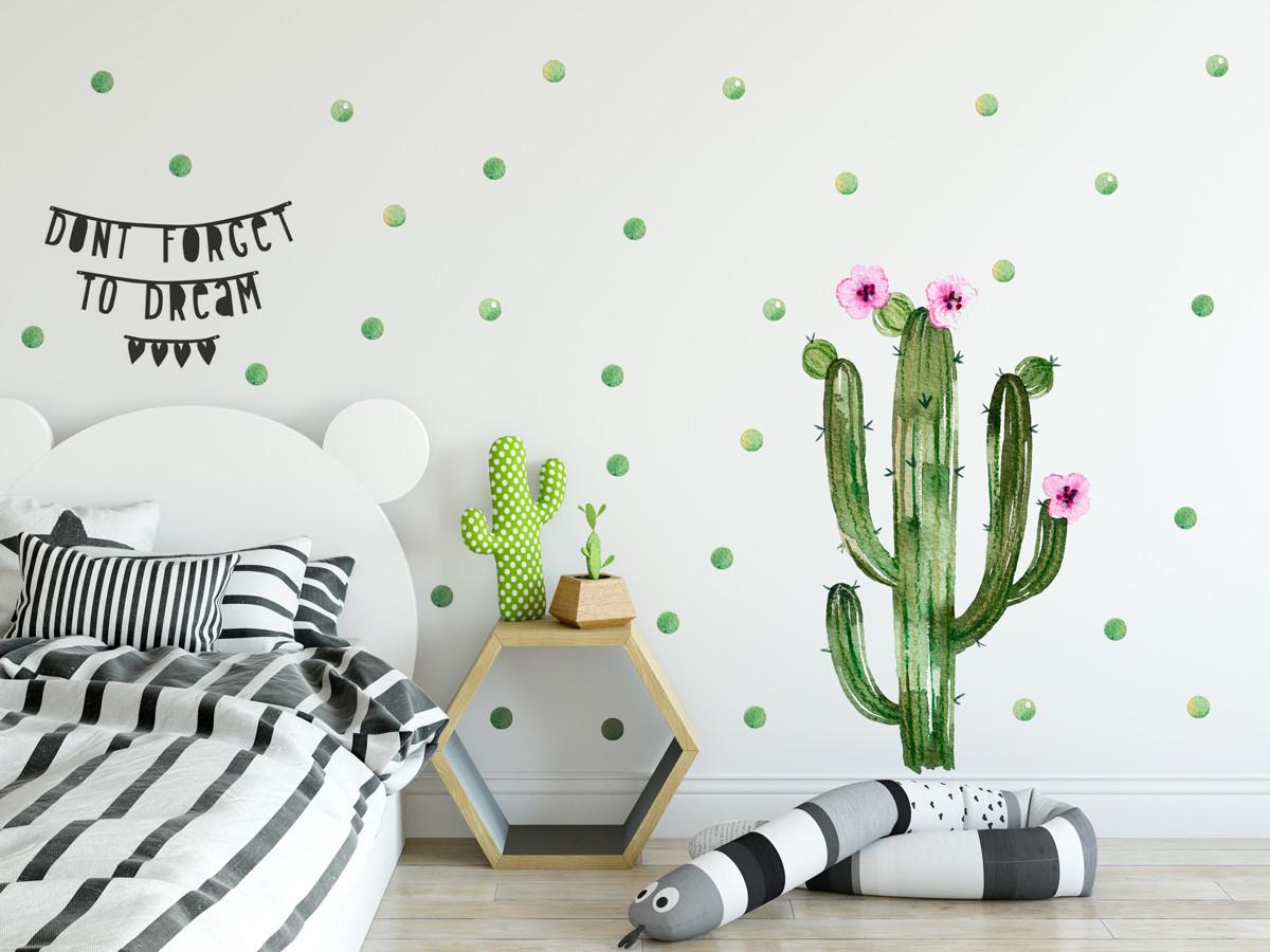 Forclaire Dekorace na zeď Kaktus 02