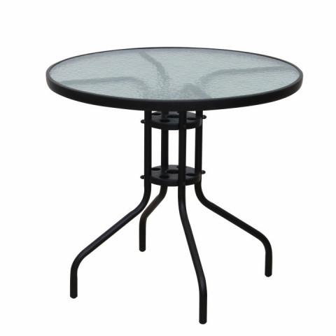 Stůl BORGEN TYP 2 - černá ocel / temperované sklo