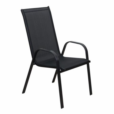 Židle ALDERA - tmavě šedá/černá