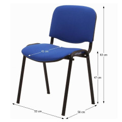 Jednací židle ISO NEW - modrá č.2