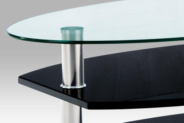 Konferenční oválný stolek AHG-059 - BK černý