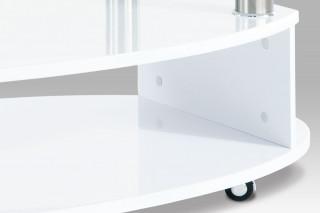 Konferenční oválný stolek AHG-059 - WT bílý