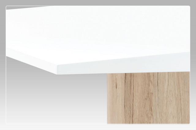 Jídelní stůl AT-2013 WT - vysoký lesk bílý / san remo