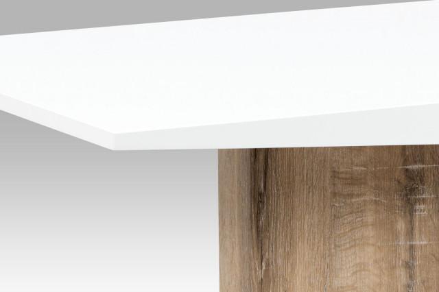 Jídelní stůl AT-2013 CAN - vysoký lesk bílý / Canyon Grey