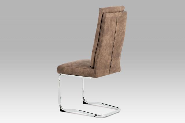 Jídelní židle DCH-172 BR - koženka hnědá
