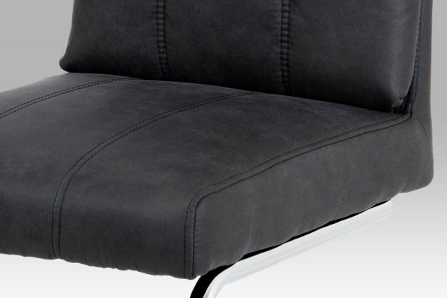Jídelní židle DCH-172 GREY - koženka šedá