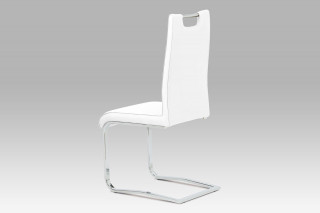 Jídelní židle DCH-563 WT - koženka bílá