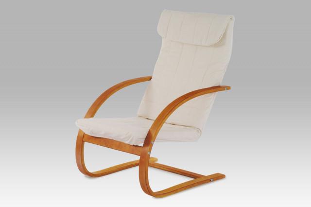 Relaxační křeslo QR-13 TR2 - Třešeň / látka krémová