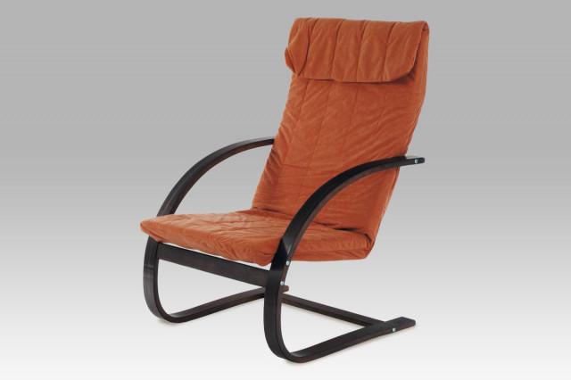 Relaxační křeslo QR-13 BR - Ořech / mikroplyš teracota