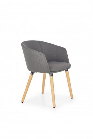 Židle s područkami K266 - tmavě šedá