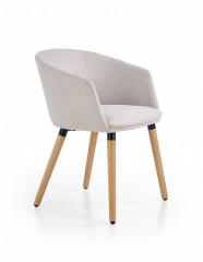 Židle s područkami K266 - světle šedá