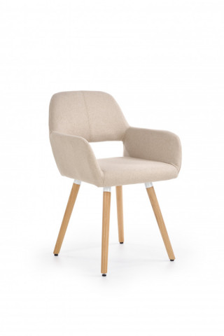 Židle s područkami K283 - béžová