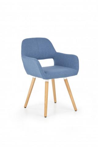 Židle s područkami K283 - modrá