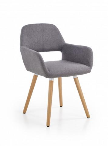 Židle s područkami K283 - šedá