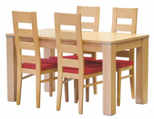 Ilustrační fotografie - Jídelní stůl Peru rozkládací + židle Falco