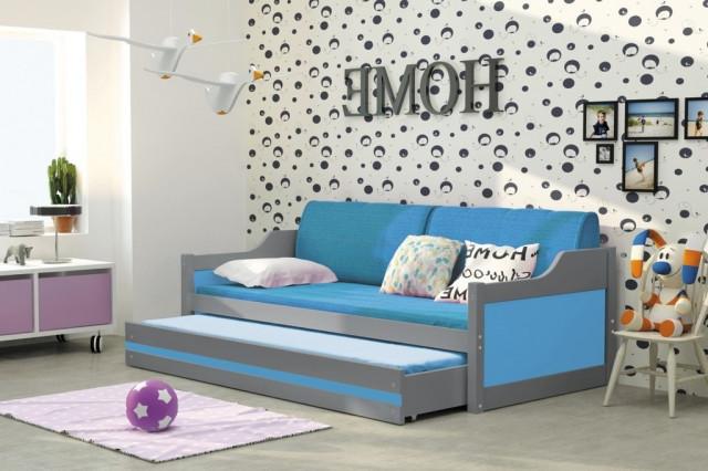 Pohovka Dawson grafit/modrá