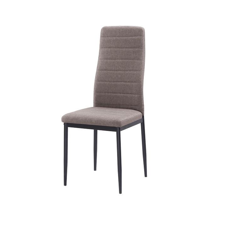Tempo Kondela Židle COLETA NOVA - hnědá látka / černý kov + kupón KONDELA10 na okamžitou slevu 3% (kupón uplatníte v košíku)