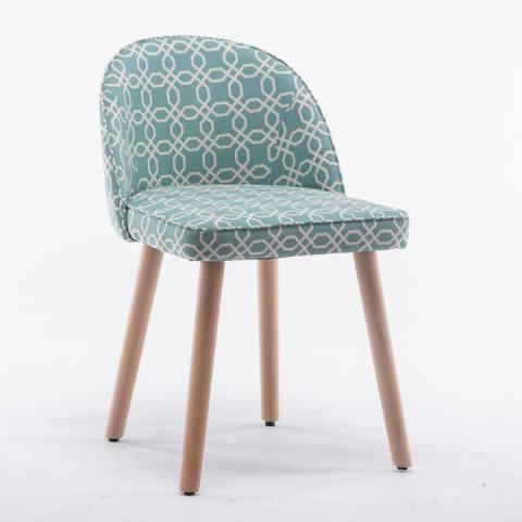 Židle LALIMA - zelená vzor
