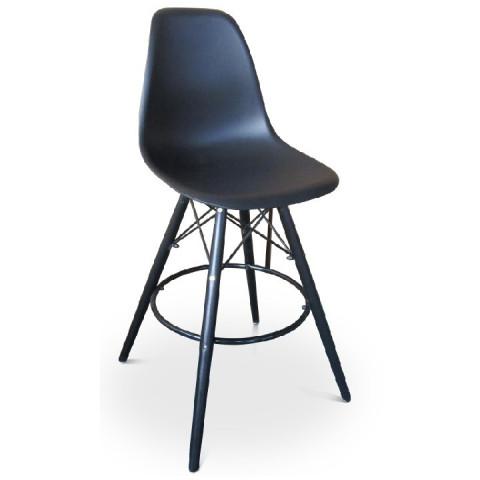 Barová židle, černá, CARBRY