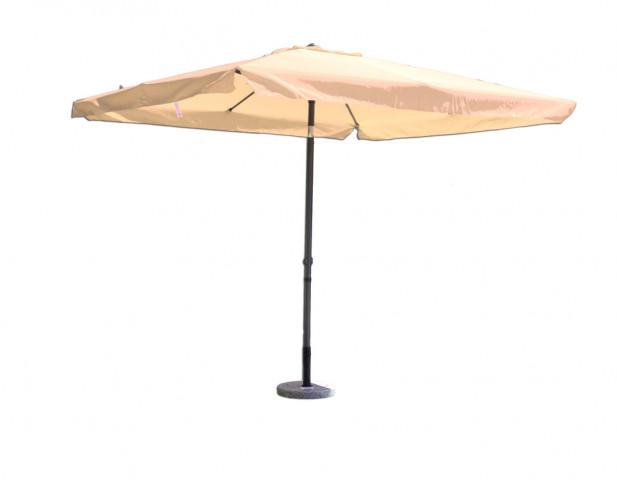 Slunečník kovový 8020 - 270 cm - béžový