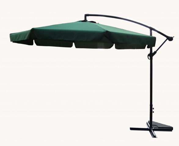 Slunečník EXCLUSIVE boční ø300 cm - zelený
