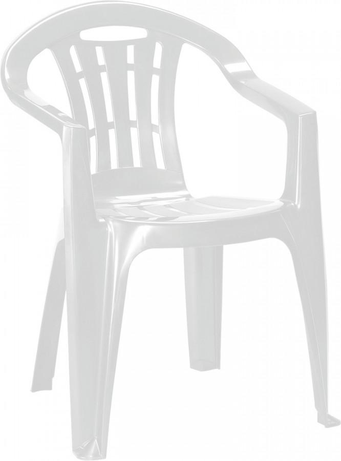 Rojaplast Křeslo MALLORCA bílé