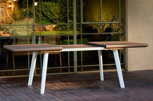 Zahradní stůl HARMONY EXTENSION bílý+cappuchino
