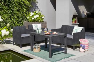 Zahradní stůl LYON rattan - grafit