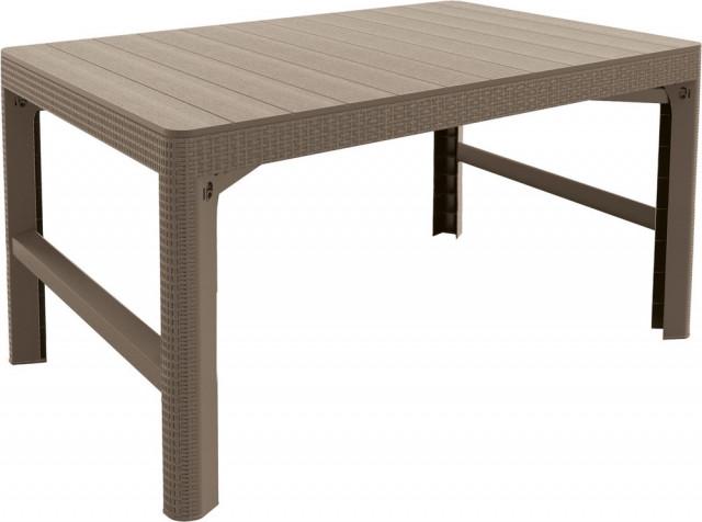 Zahradní stůl LYON rattan - cappucino