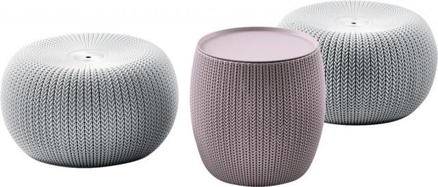 Set URBAN KNIT (COZIES) - šedý + fialový