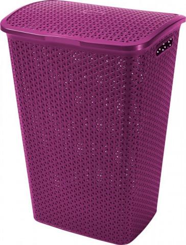 Koš na prádlo MY STYLE 55L - fialový