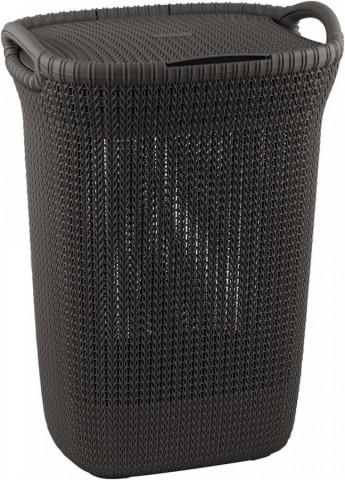Koš na prádlo KNIT 57L - hnědý