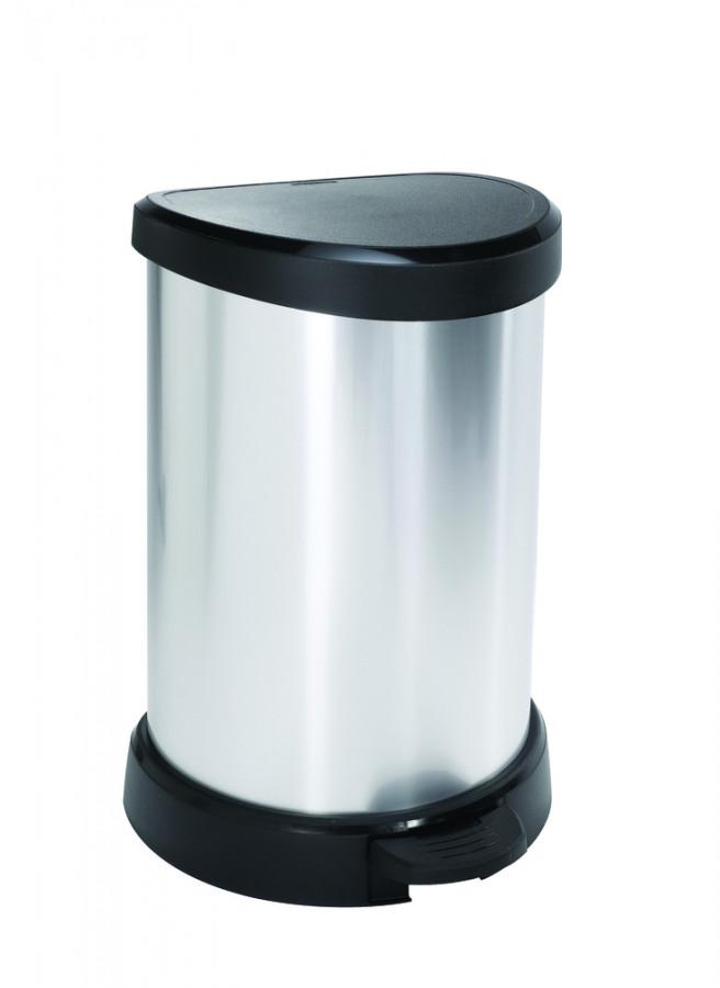 Curver Odpadkový koš DECOBIN 20L - stříbrný