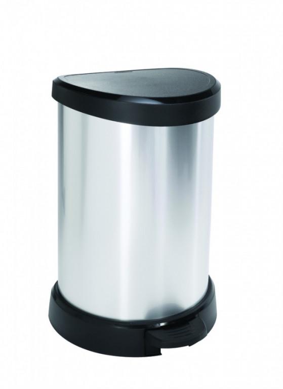 Odpadkový koš DECOBIN 20L - stříbrný