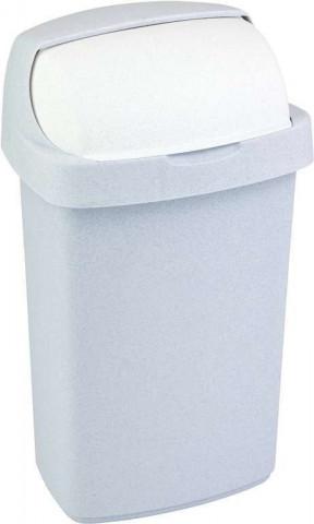 Odpadkový koš ROLL TOP 10L - sv. šedý
