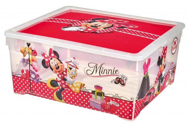 Box TEXTILE BOX - 18,5L - MINNIE